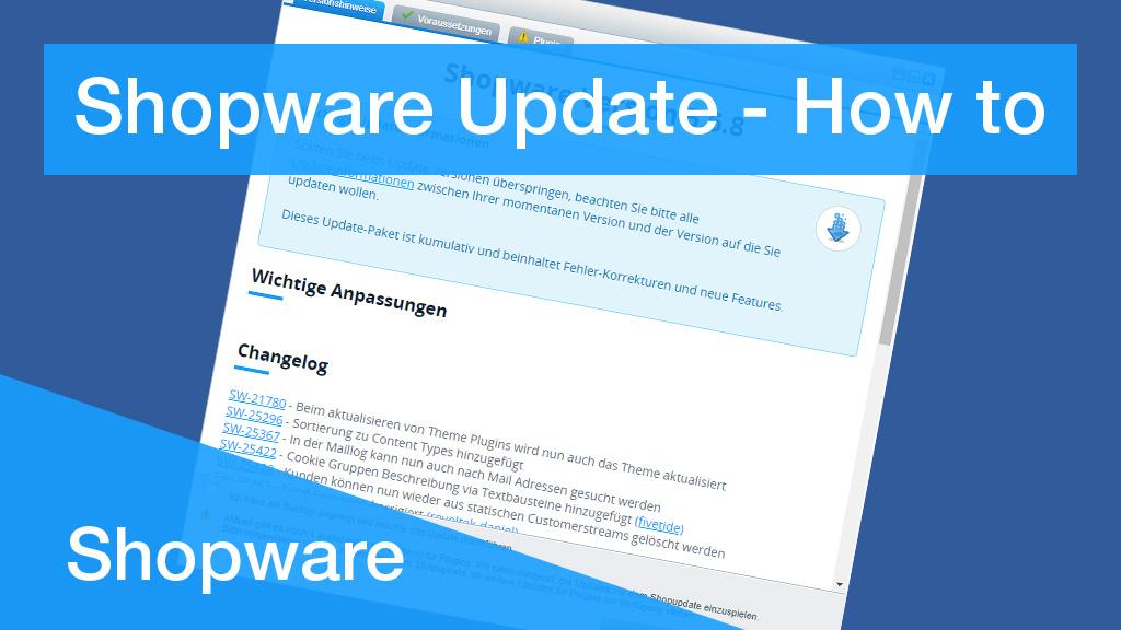 Shopware Update Dialog