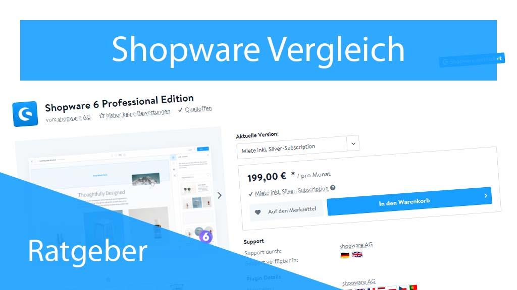 Shopware Professional Vergleich