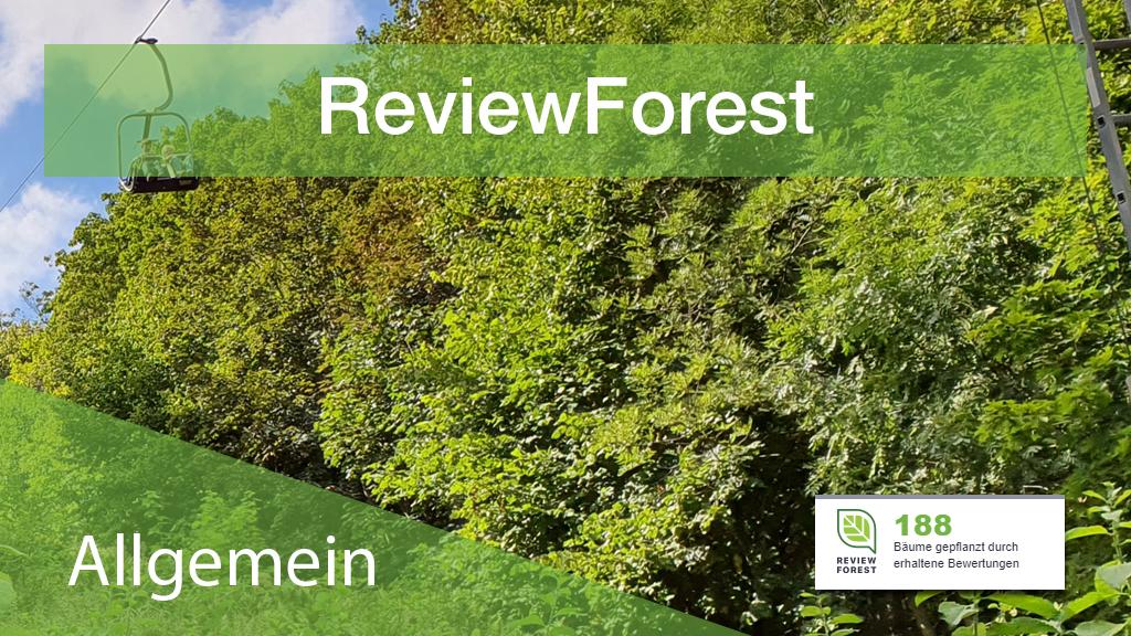 ReviewForest - Bäume pflanzen und Bewertungen erhalten