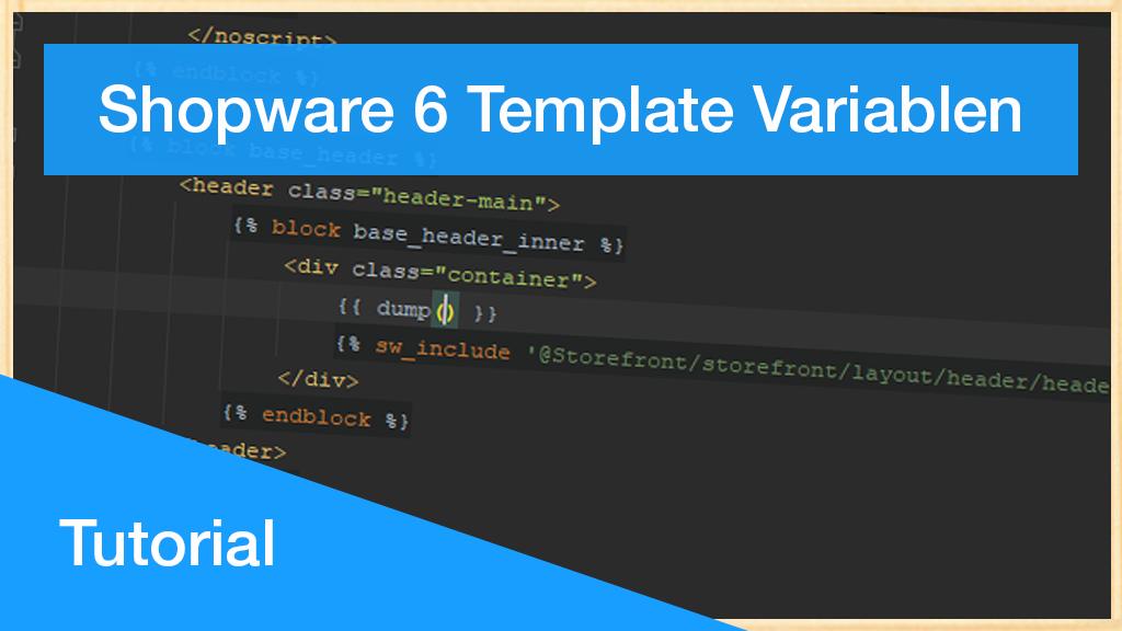 Shopware 6 Twig Template Variablen ausgeben lassen | Debug-Turorial