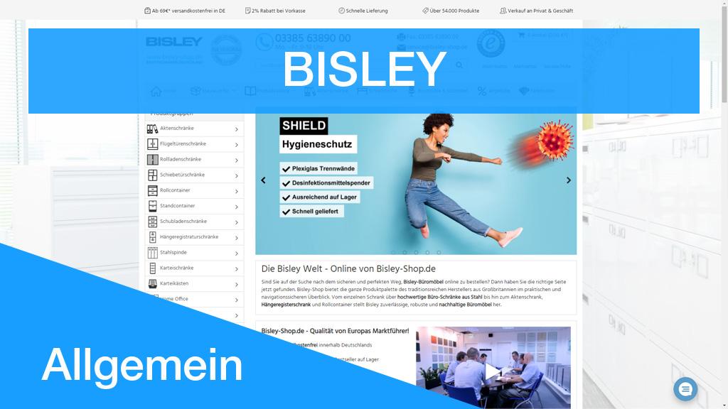 Bisley Onlineshop Shopware 5 - denis pluntke