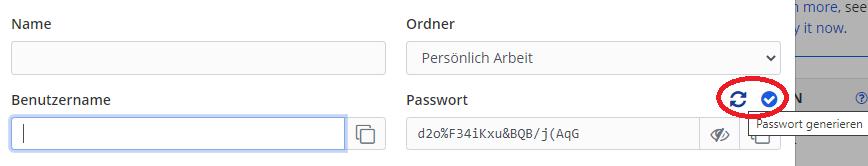 Passwörter setzen mit Bitwarden