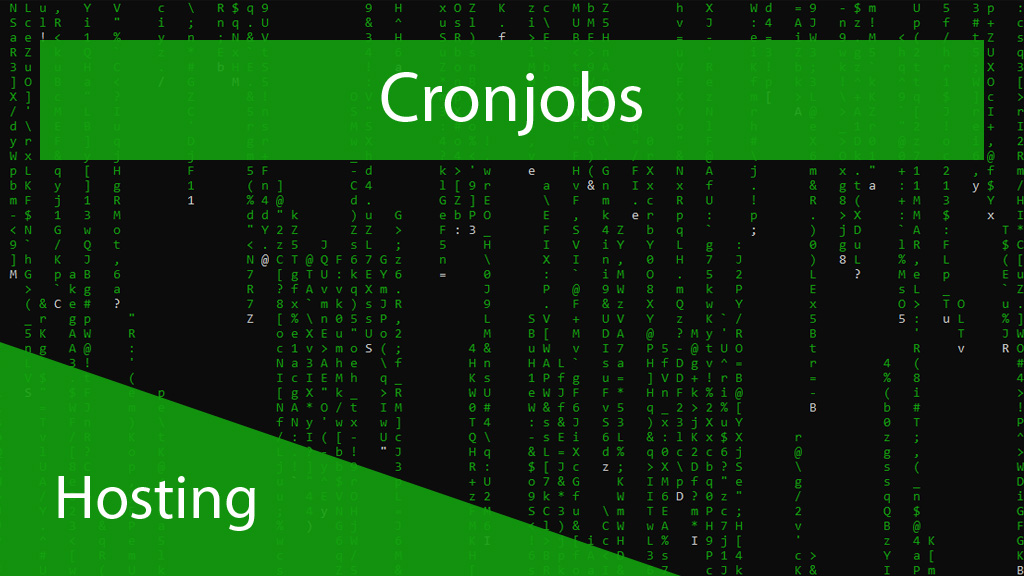 Cronjobs - Hosting - Titelbild